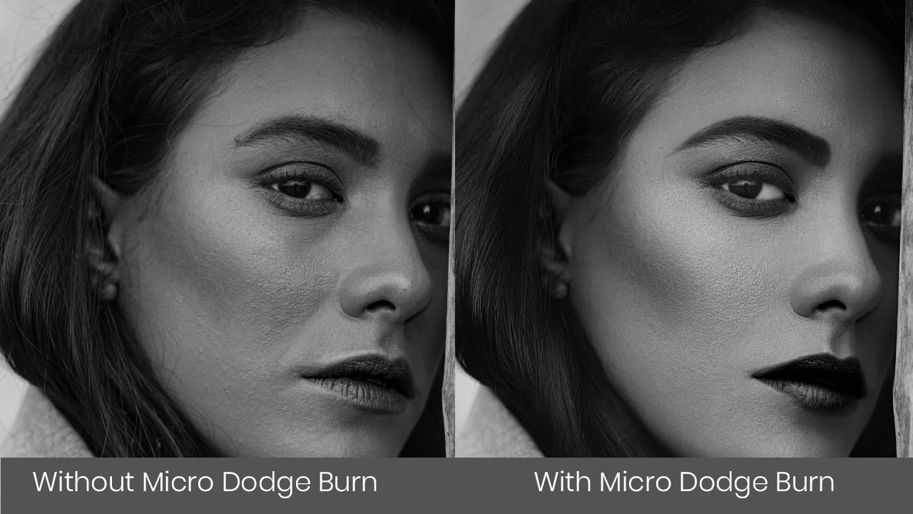 Photoshop skin retouching micro dodge burn
