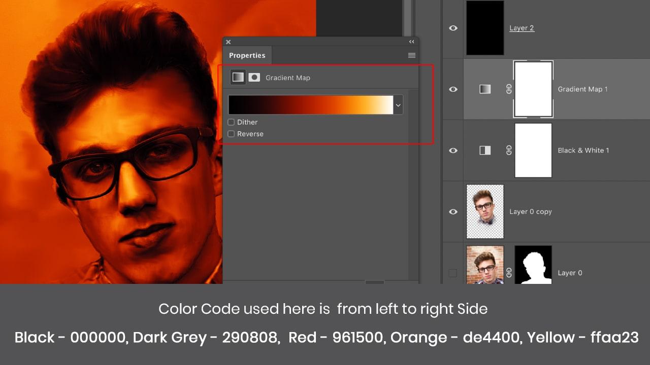 photoshop gradient map