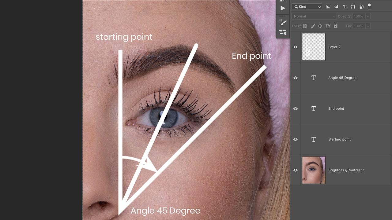 eyebrow shaping photoshop