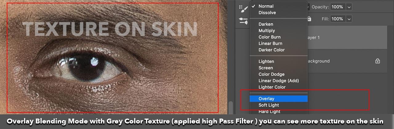 dark circle in skin texture