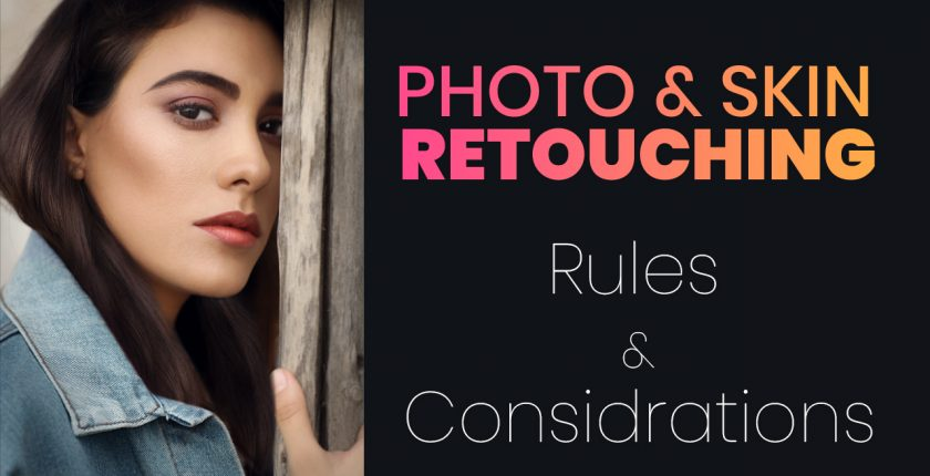 Photo retouching rule for photo editor